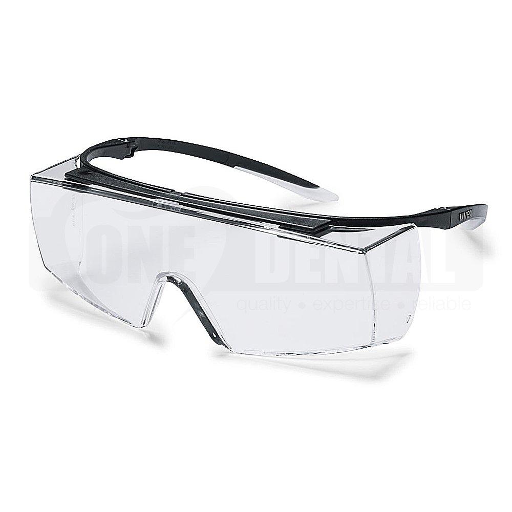 UVEX super OTG Black Frame, Clear VLT 80+% Optidur NCH Lens