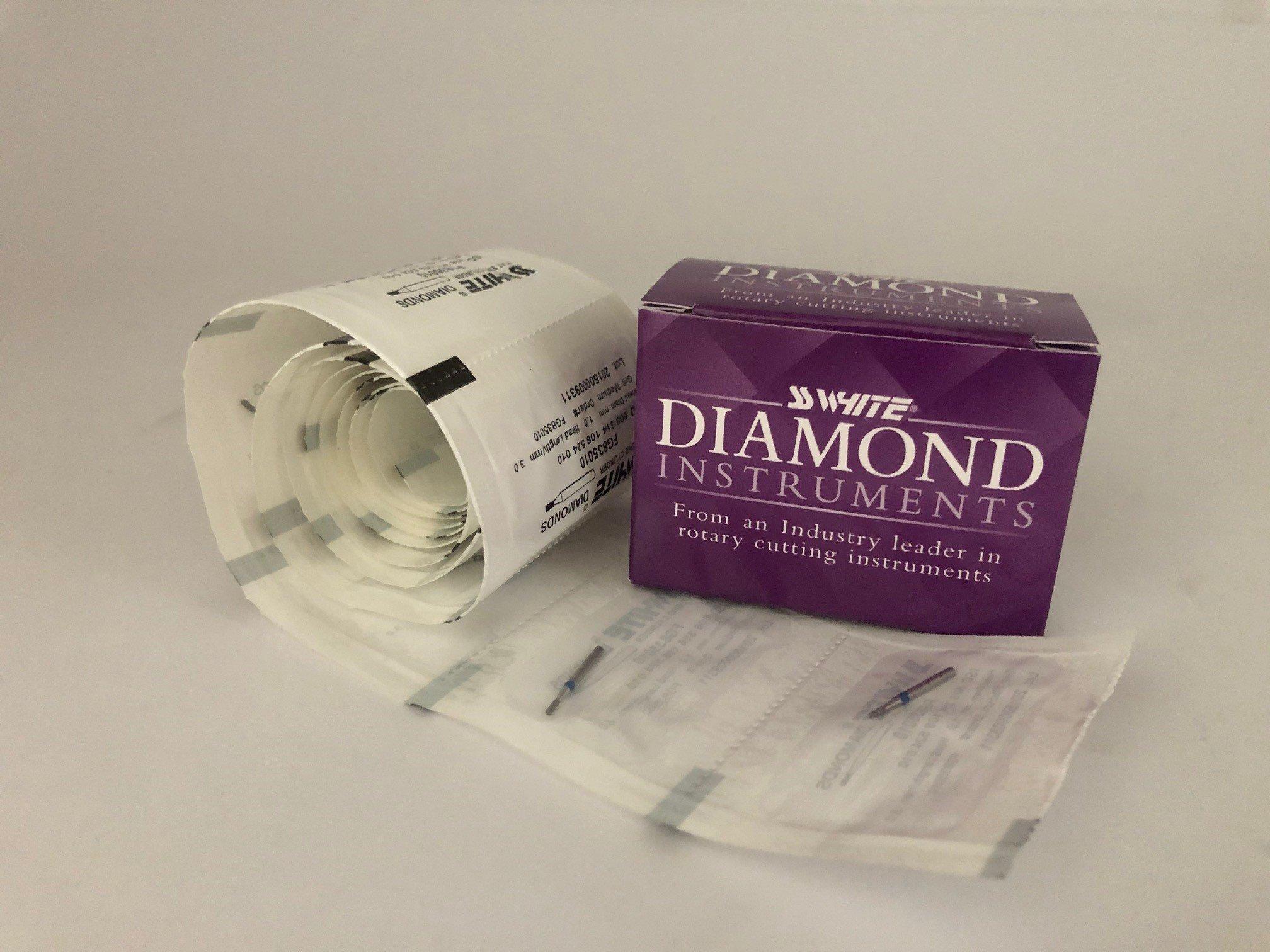 *ON SALE*Diamond Bur FG 835 010 FF 3mm MED SSW