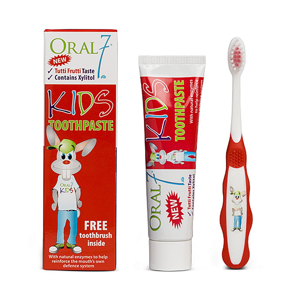 Oral 7 Kids Toothpaste 50ml Tutti Frutti 50ml with FREE Toothbrush