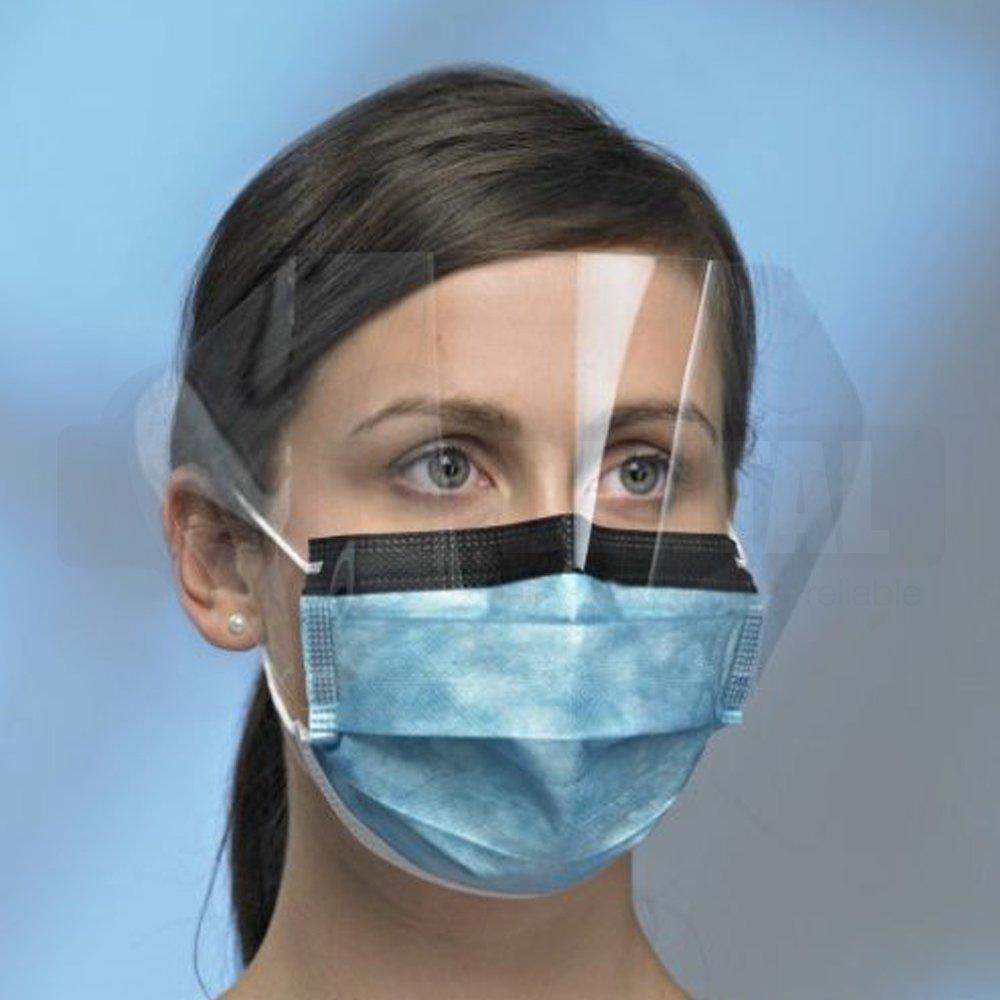 Procedural Mask, Anti-Glare, Anti-Fog, Visor, Ear loop  4 Ply Lvl 2 Box 25
