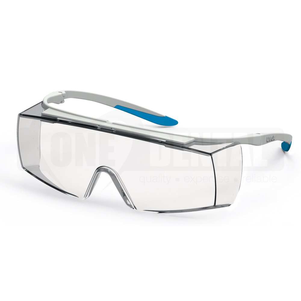 UVEX Super F OTG CR - Autoclavable, Med Impact & Anti fog Safety Glasses