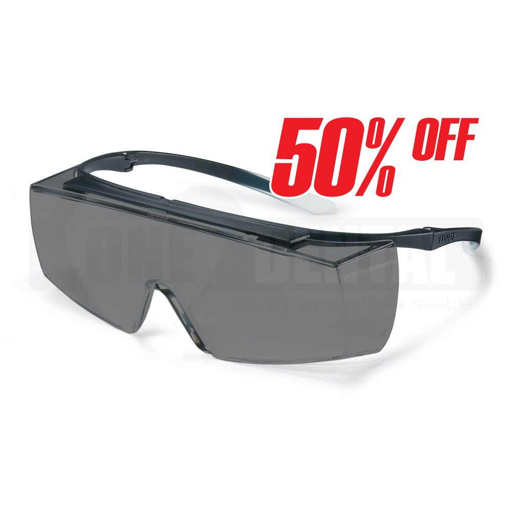 UVEX Super F OTG Tinted, Med Impact & Anti fog Safety Glasses