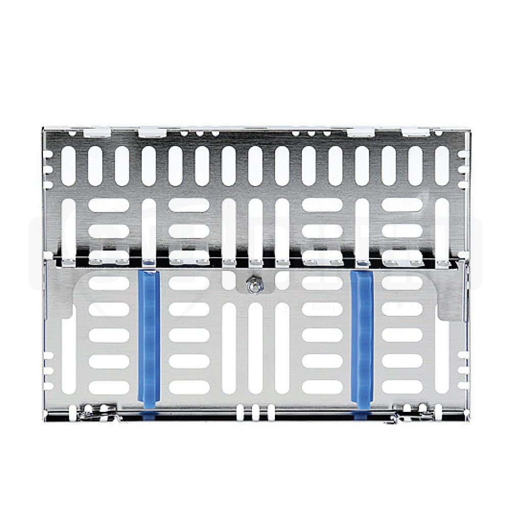 Cassette Medium Stainless Steel 5 Instruments with Divider Blue 5 1/2 X8