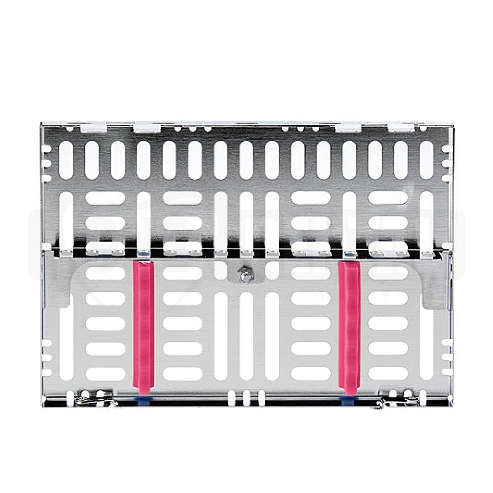 Cassette Medium Stainless Steel 5 Instruments with Divider Fuscia 5 1/2 X8