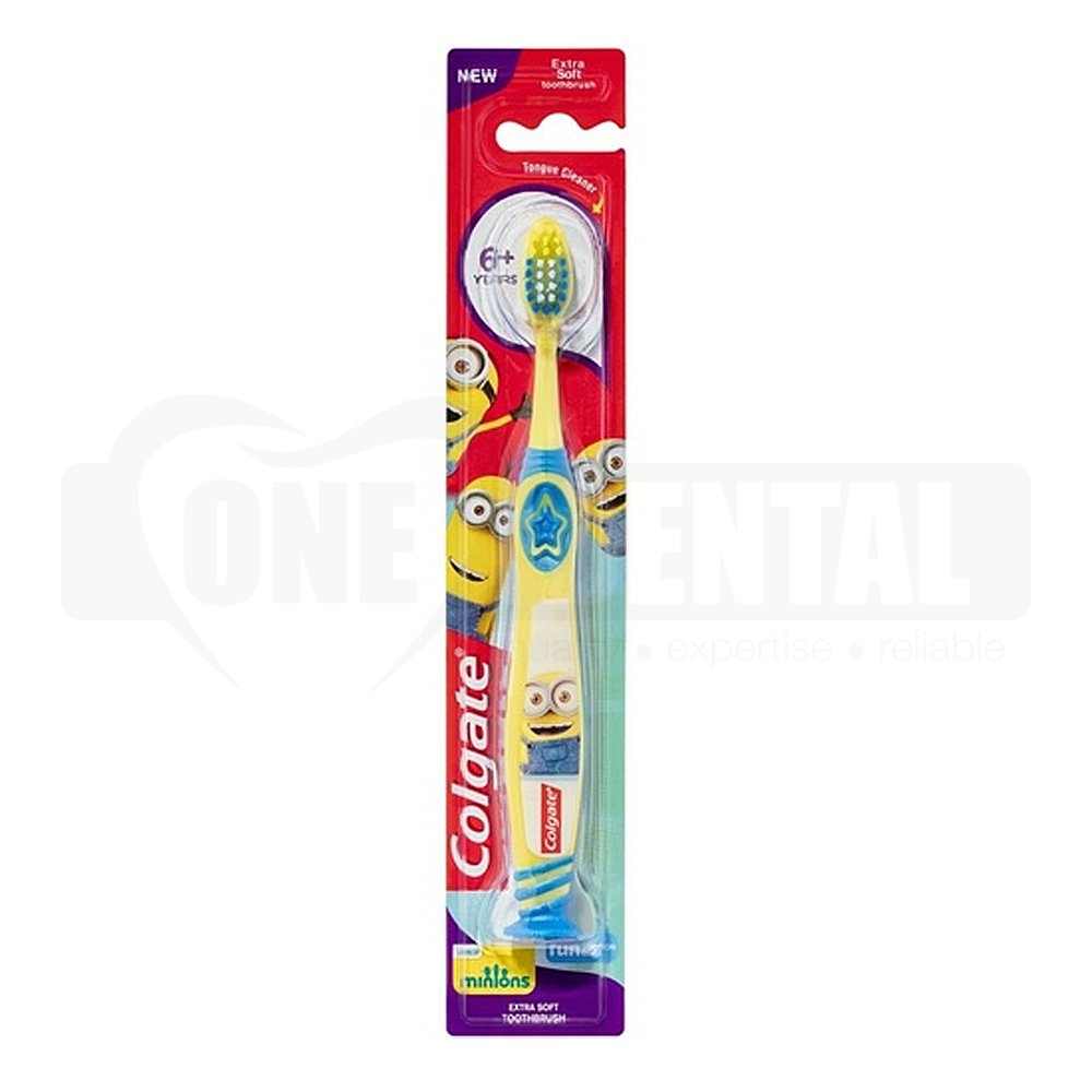 Colgate Minions Toothbrush 6+ years Extra Soft with suction cup