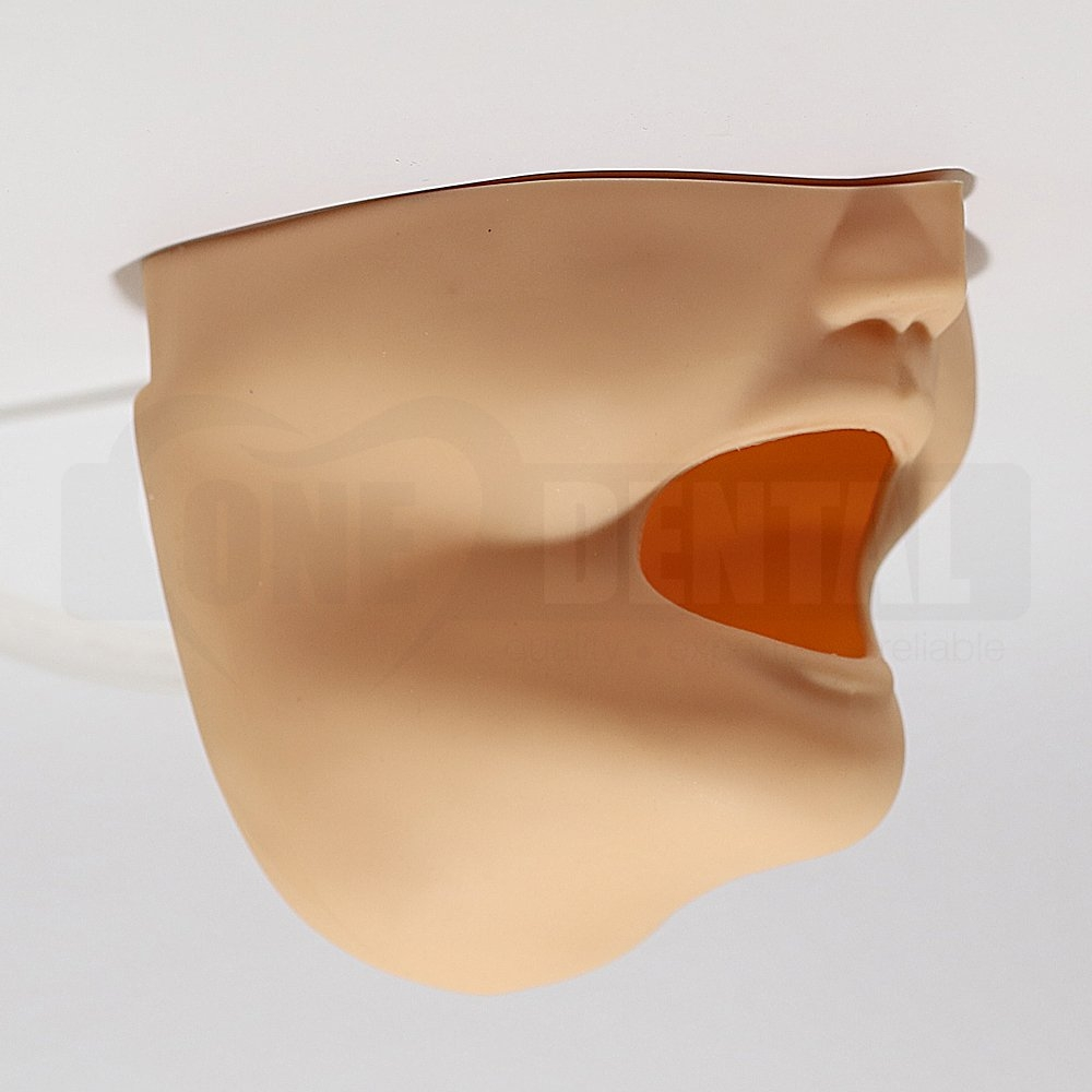Face Mask/Drainage Mask with drainage hole offset to the LEFT