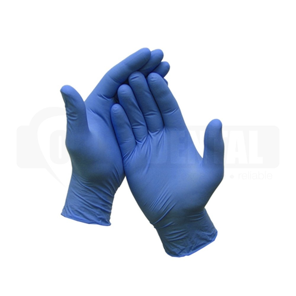 Gloves Nitrile Textured Medium Single Box of 250pcs