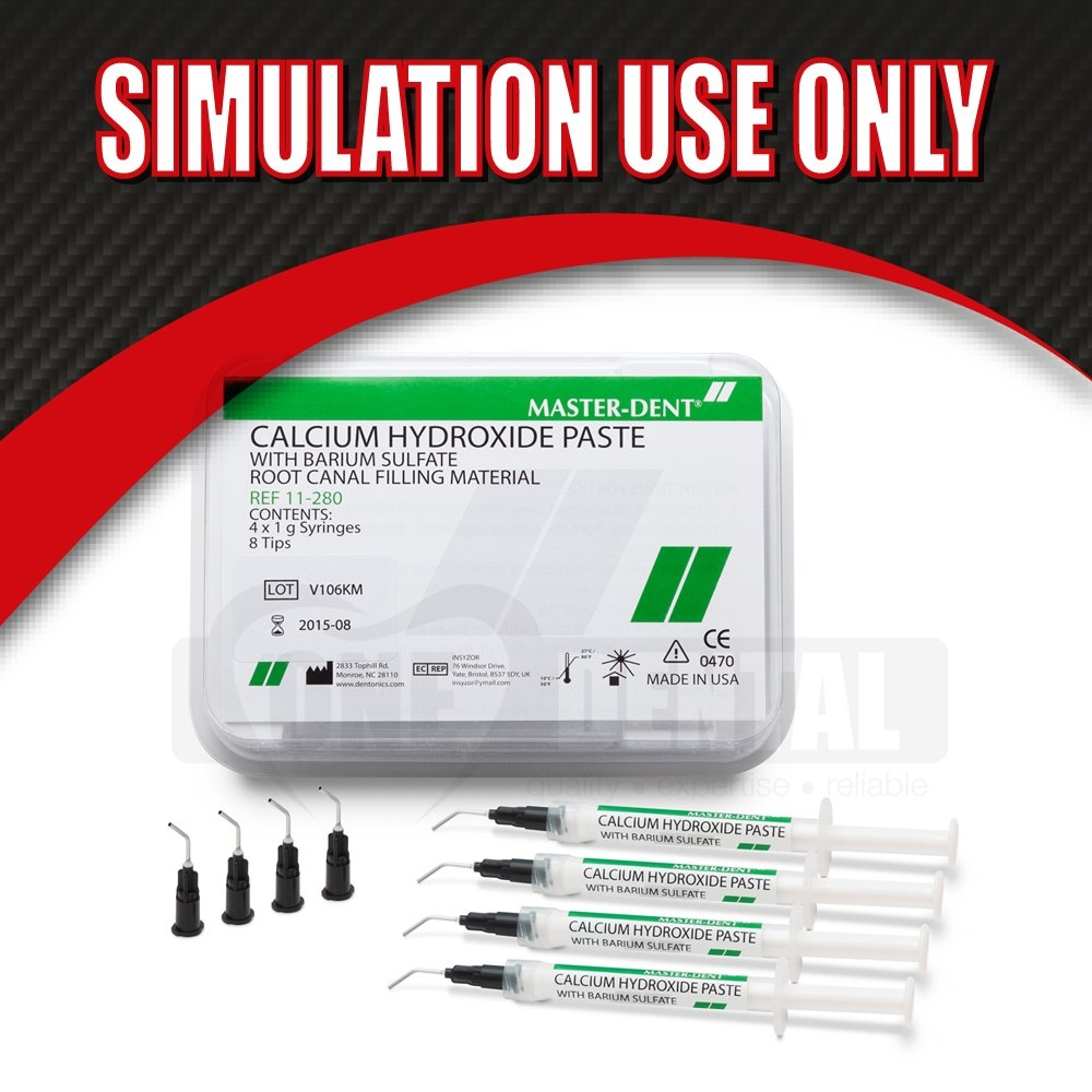 "Calcium Hydroxide Paste 4x1gm ""SIMULATION USE ONLY"" EXPIRED - Click for more info"