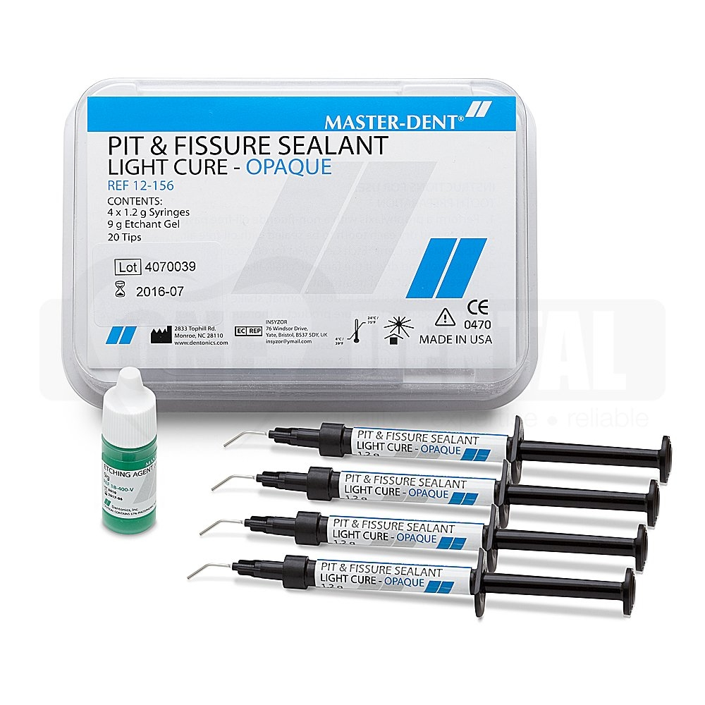 Pit & Fissure Sealant Opaque 4x1.2g Syringe - Click for more info