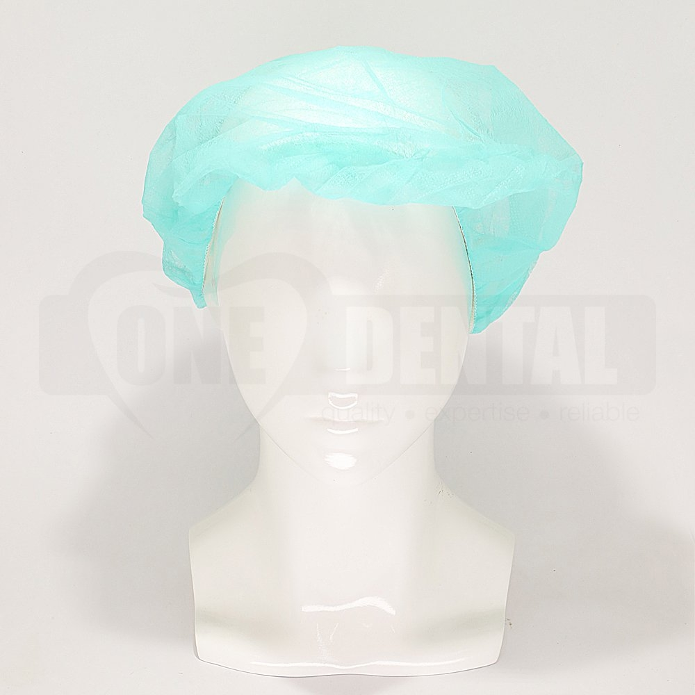Head Cap Bouffant Green (250 pieces)