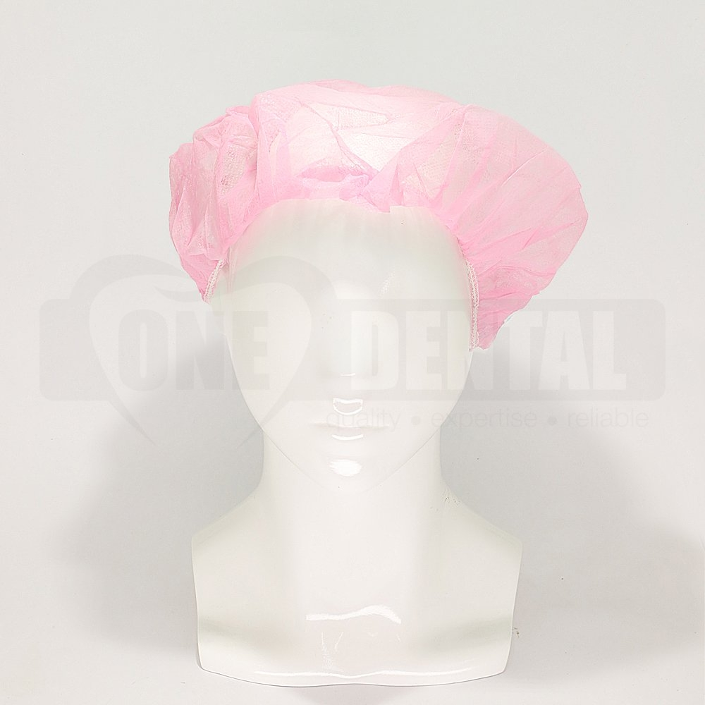 Head Cap Bouffant Pink (10 pieces)