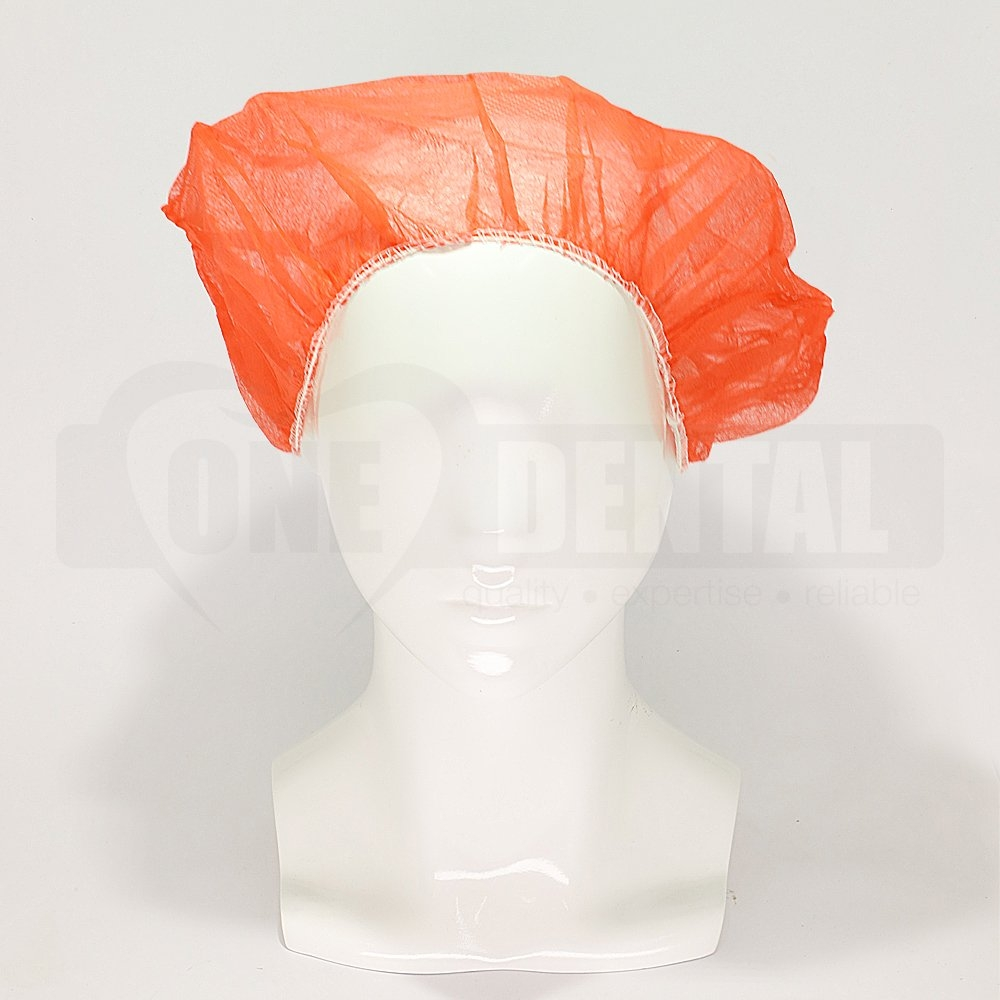 Head Cap Bouffant Red (10 pieces)