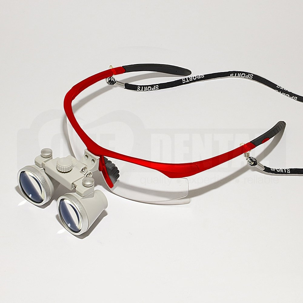 Sports Loupes 2.5X 44-54CM RED