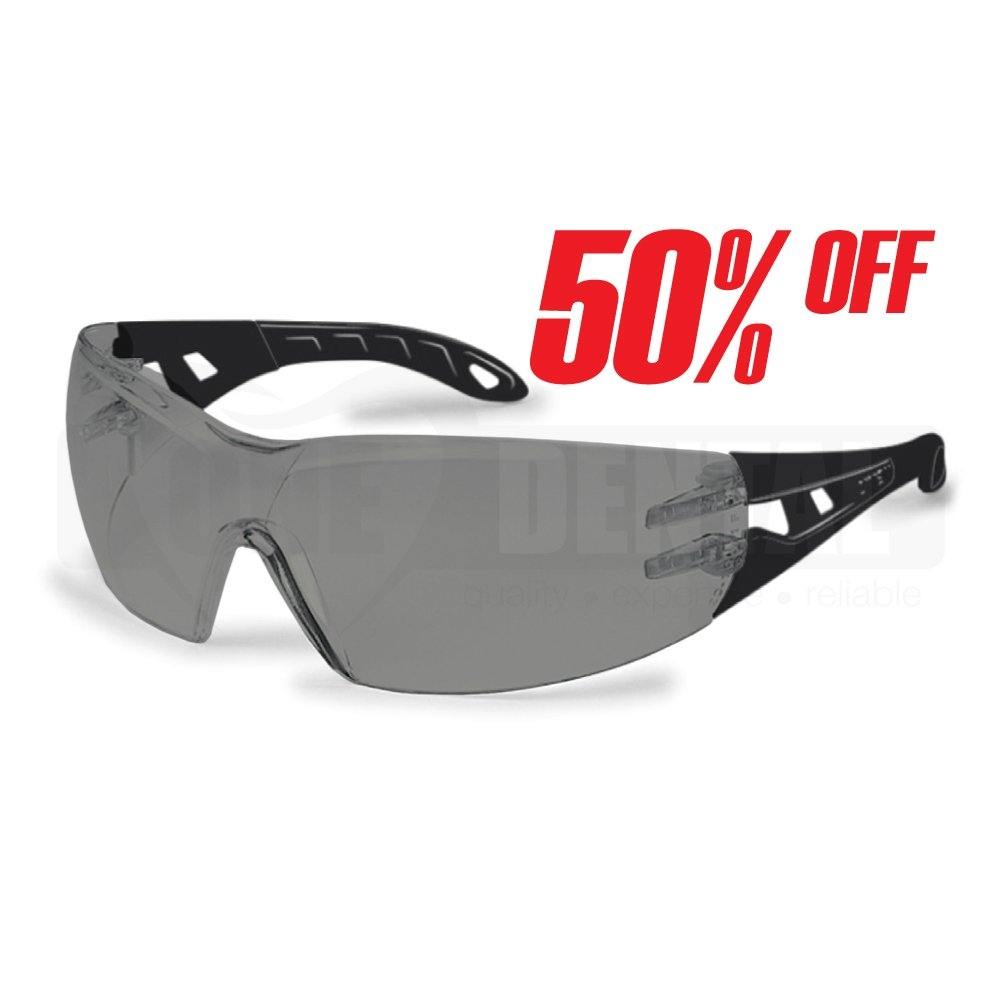 UVEX Pheos One Tinted Supravision Sapphire Small Safety Glasses - Click for more info